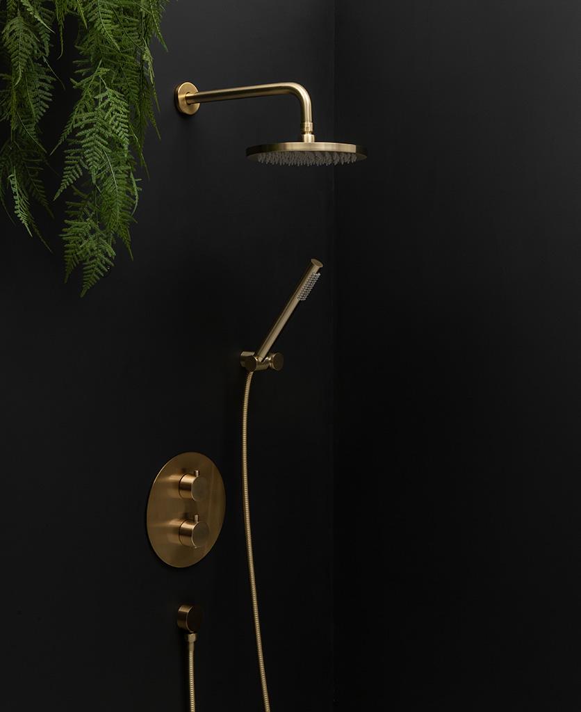 Havasu gold thermostatic shower