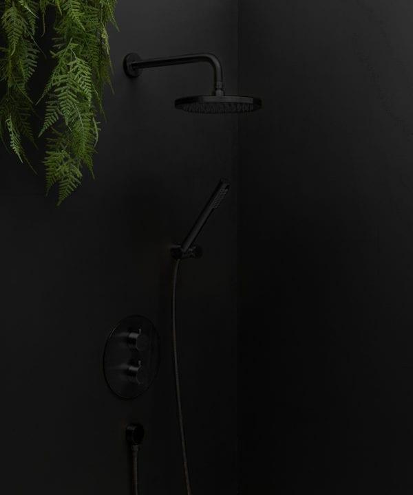 Havasu Black Shower on black background