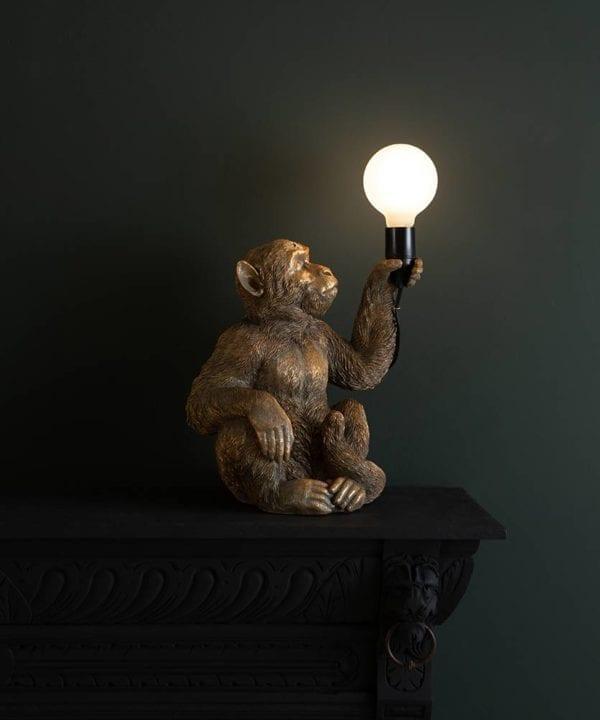 Gold Koko Stitting Monket Table Lamp