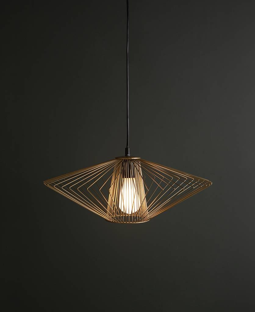 Navasana brass pendant light