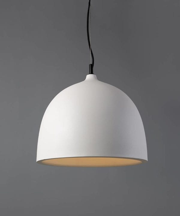 Petanque white bowl pendant light