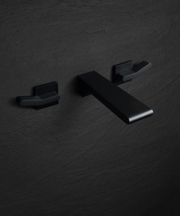 matt black bathroom tap - Rosumo wall mounted tap