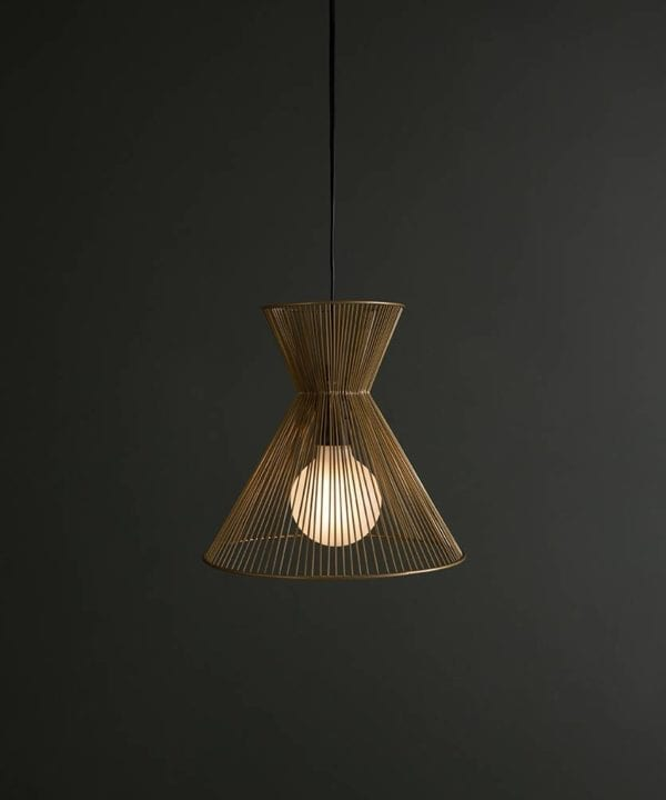 Tadasana gold pendant light