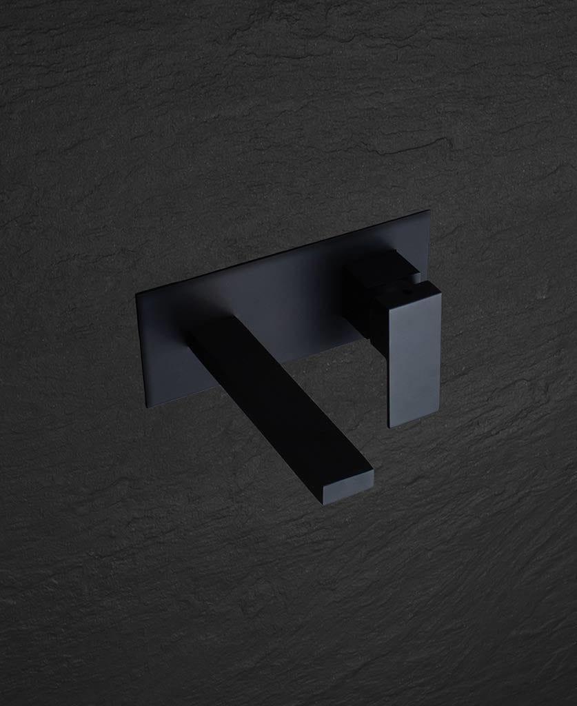 Yuntai black wall mounted tap