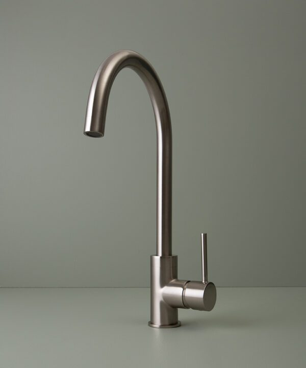 silver tinkisso tap on grey-green background