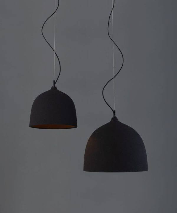 Basque black pendant light
