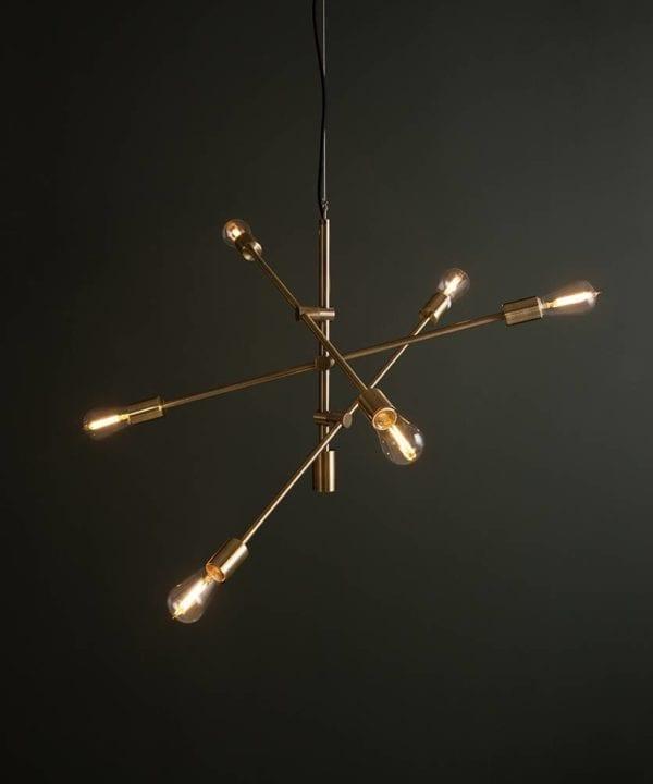 Brass Trikonasana Trikonasana feature pendant lights