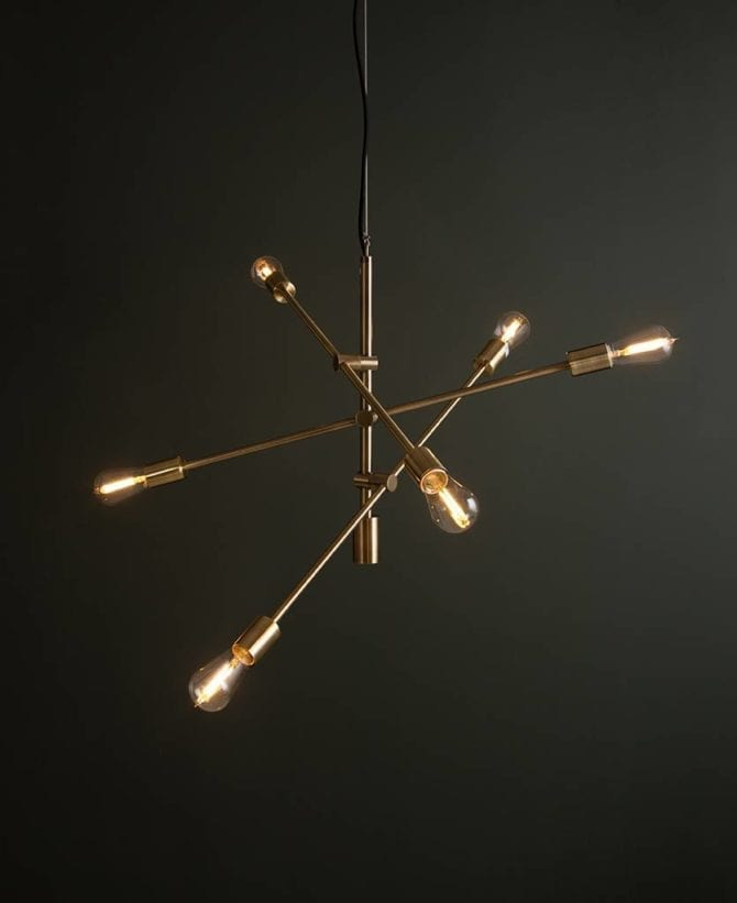 Brass Trikonasana Trikonasana feature pendant lights