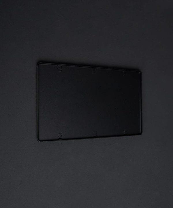 Black double blank fascia