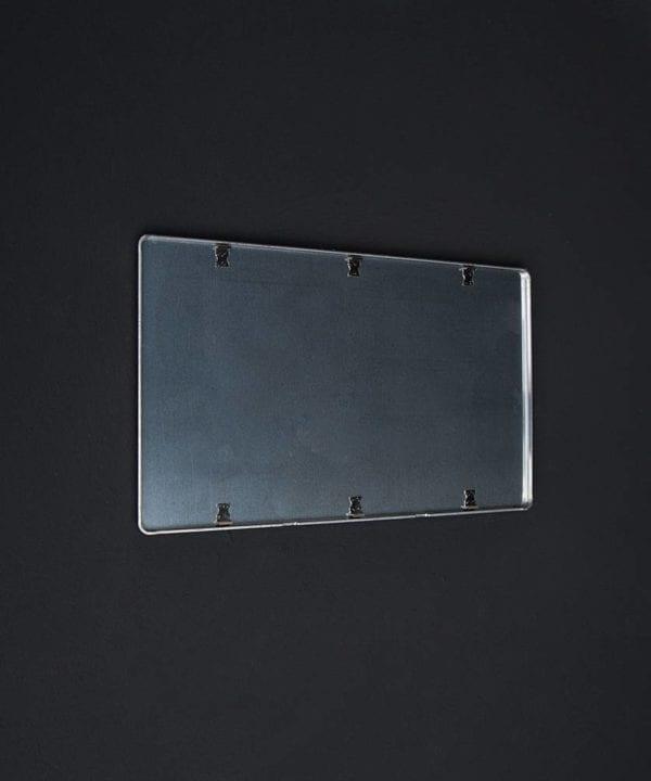 Silver double blank fascia