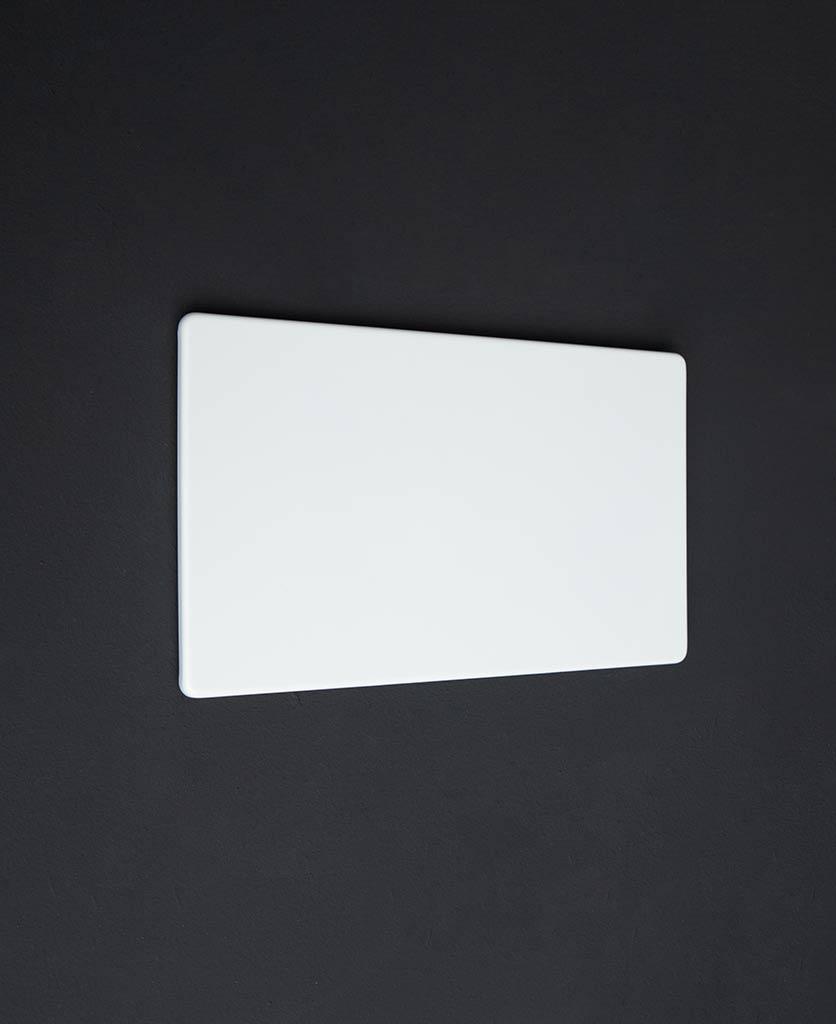white double blank fascia plate