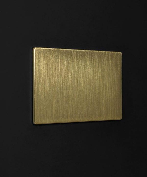 gold double blank fascia