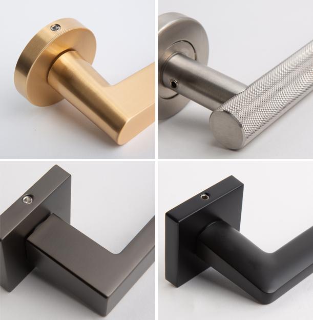 collage of internal door handles