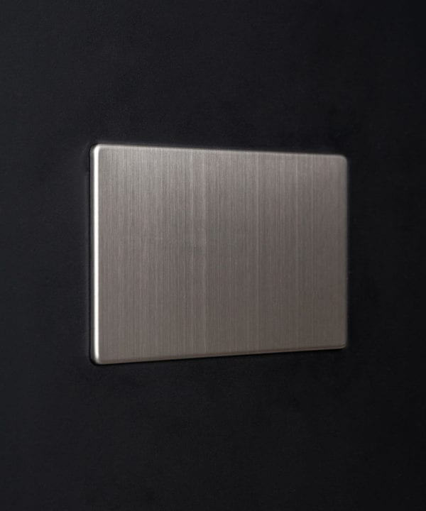 silver double blank fascia against black background