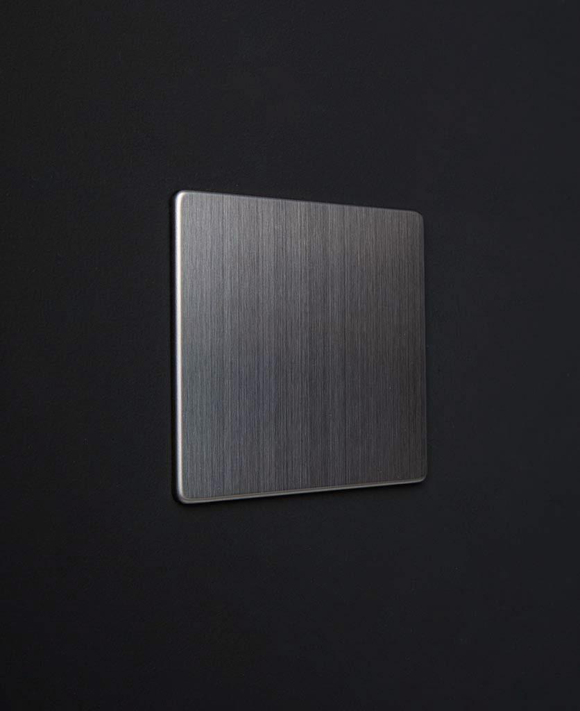 silver single blank fascia against black background