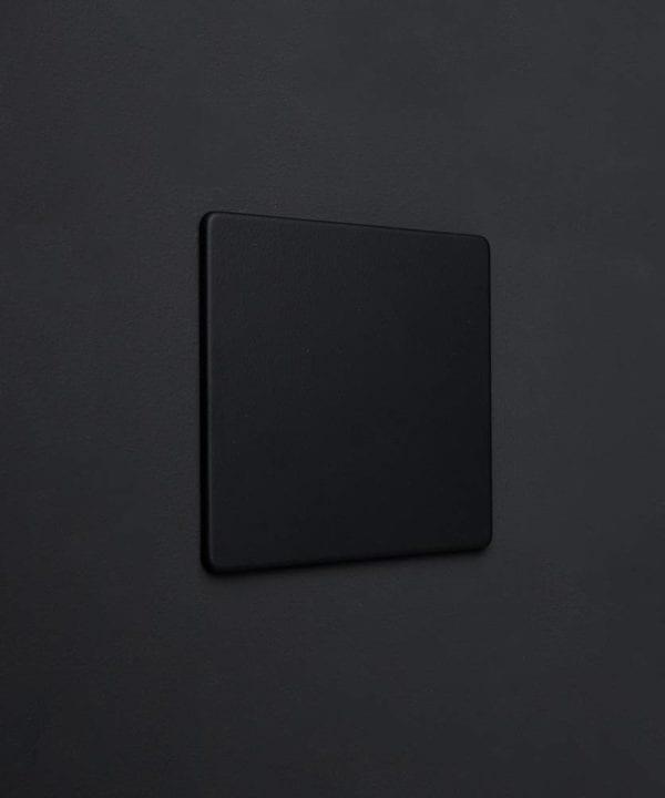 Black single blank fascia