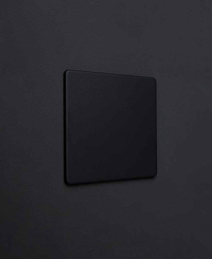 black single blank fascia plate