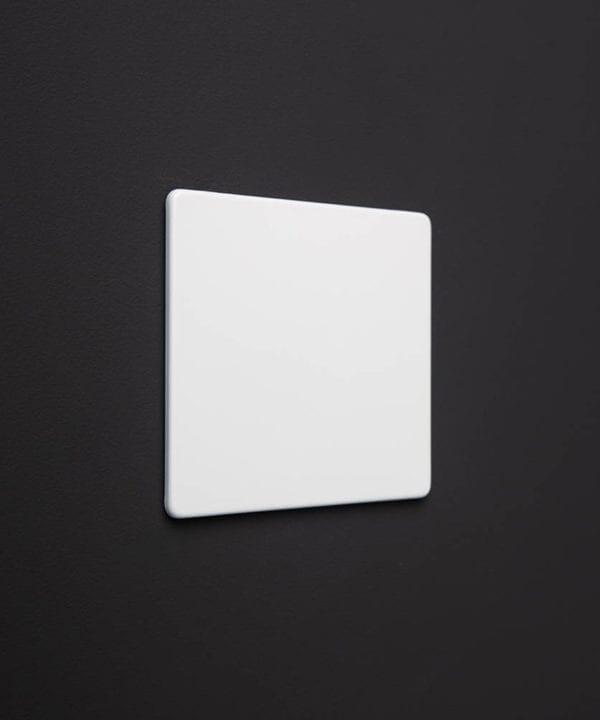 single white blank fascia plate