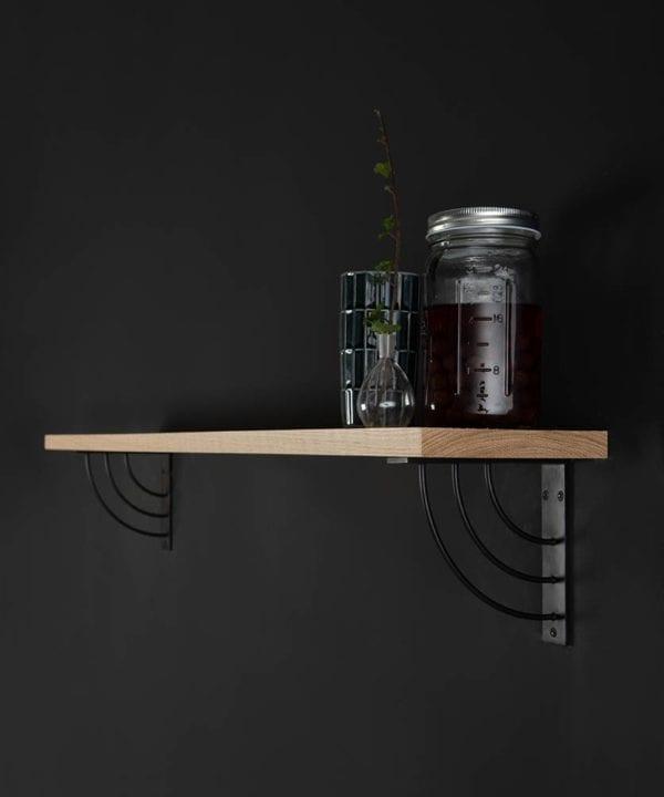 small marilyn oak shelf and brackets