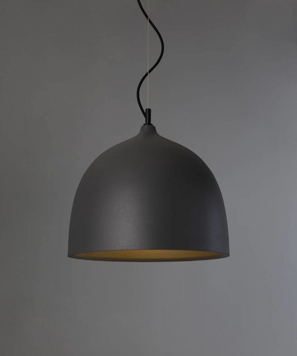 Trugo large grey bowl pendant