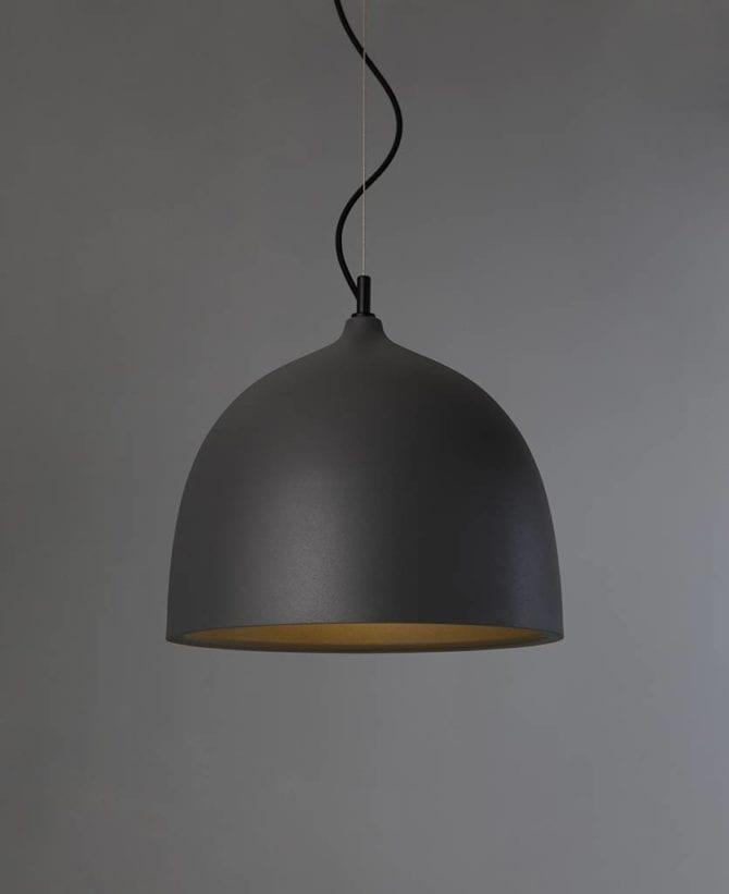 Trugo large grey bowl pendant