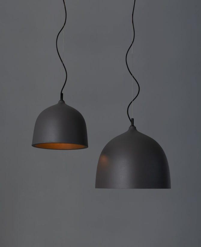 Trugo grey large and small bowl pendant