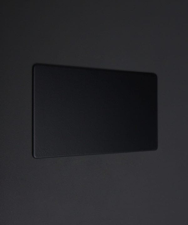 black double fascia plate