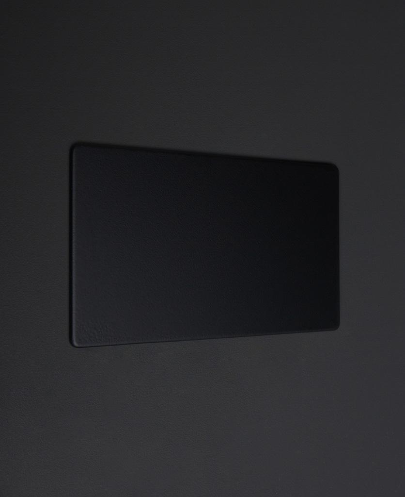 black double fascia plate