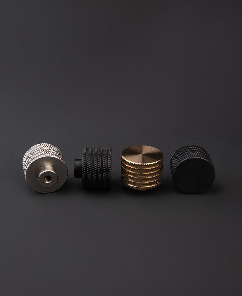 round metal drawer knob