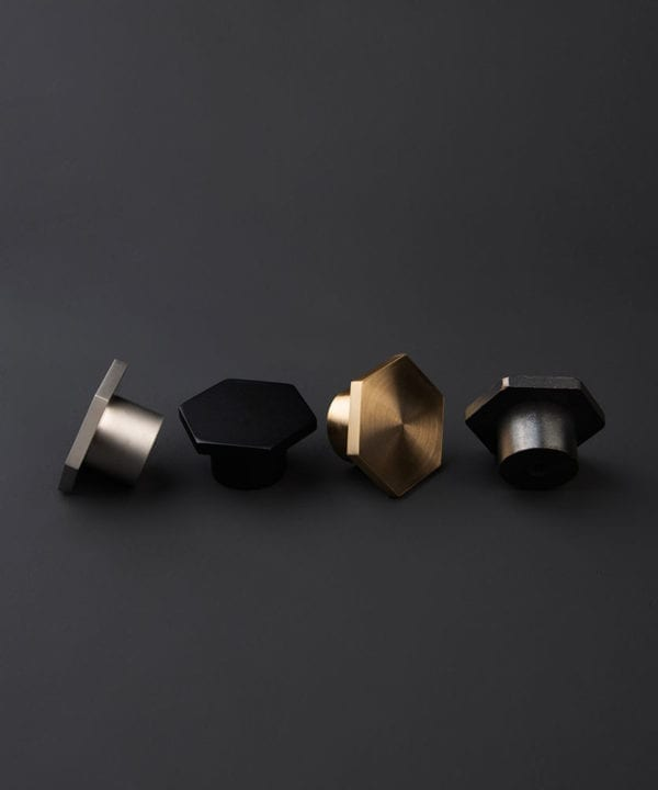 hexagonal drawer knob