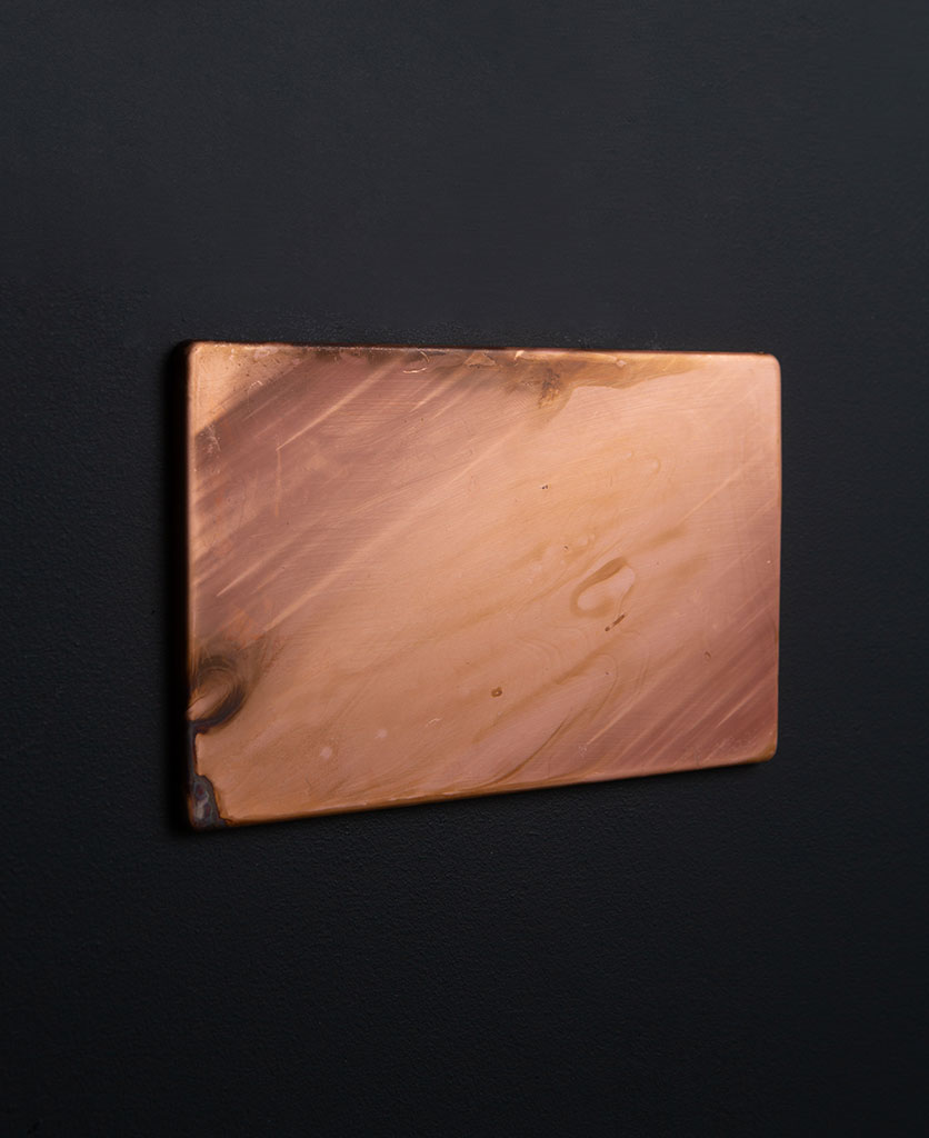 Copper Double Blank Fascia