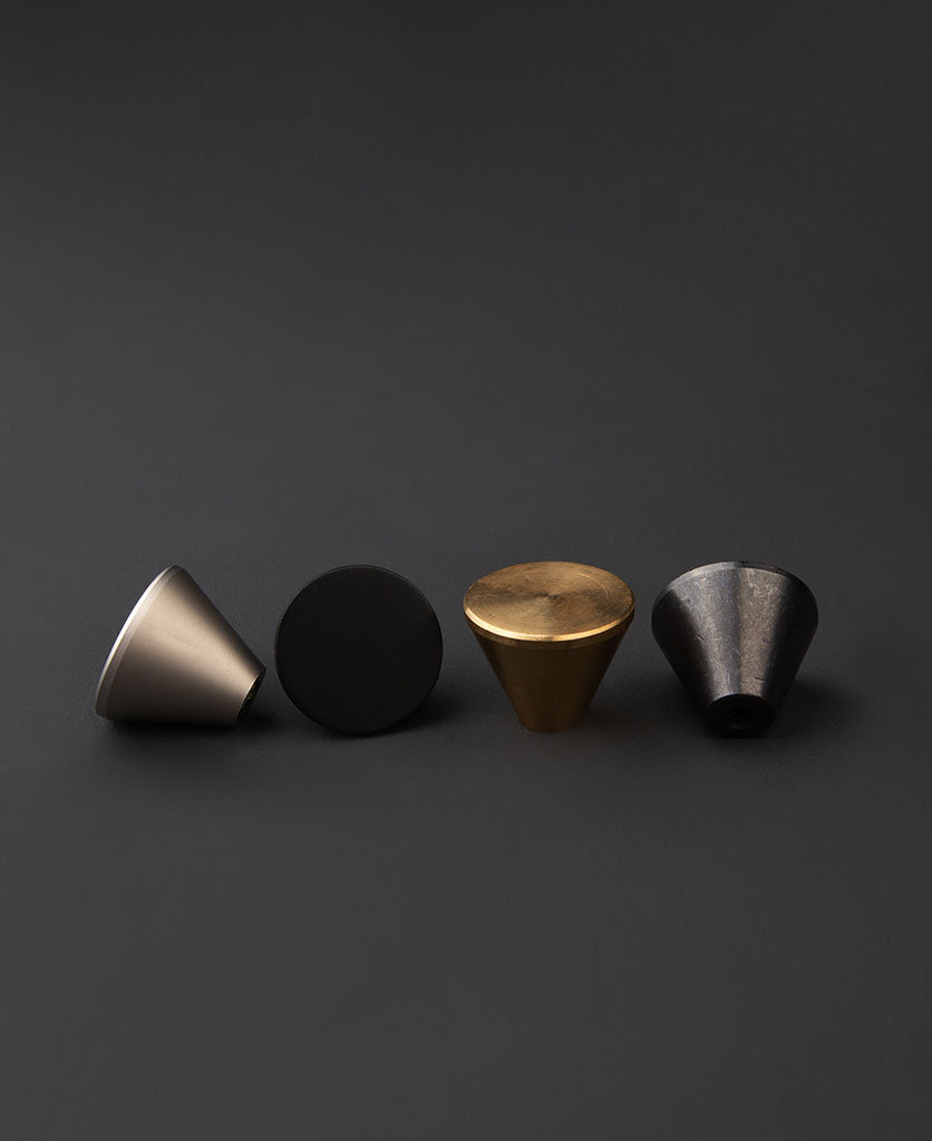 metal cone drawer knob