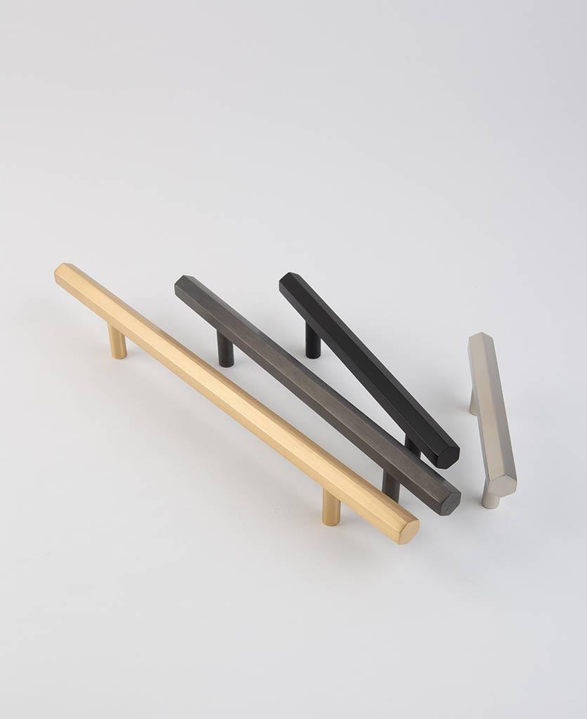Hexagonal metal kitchen cupboard drawer handle
