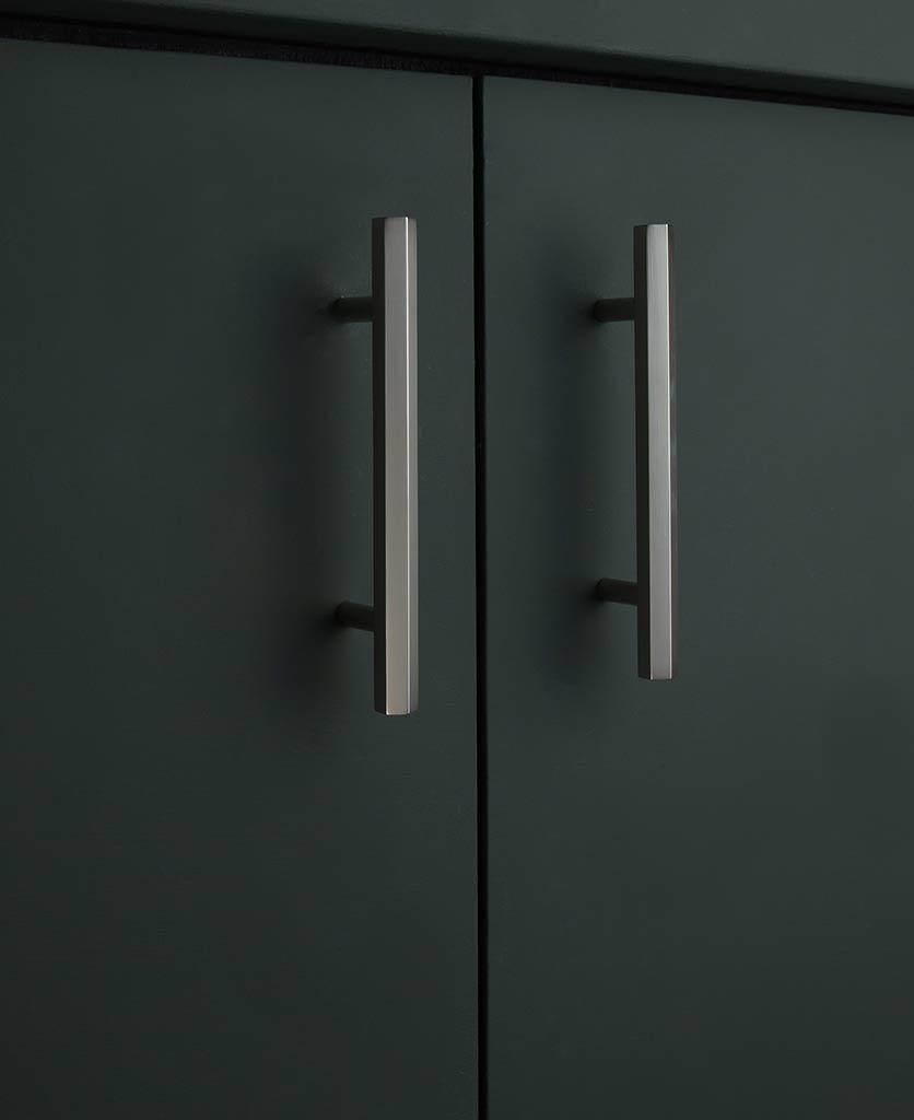 150mm silver hexagonal unit door handle