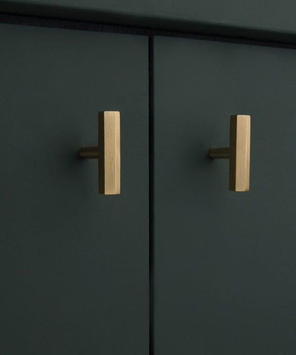 Brass hexagonal kitchen cupboard handle