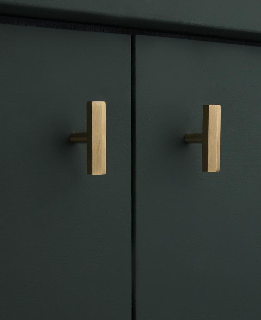Brass hexagonal t-bar handle