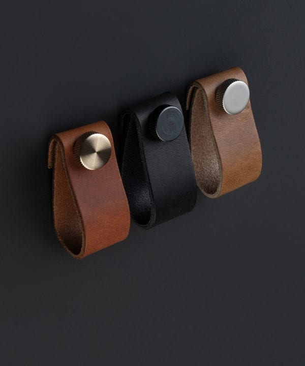 leather cupboard handles