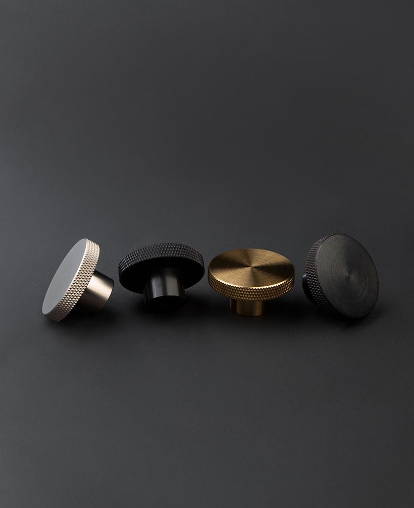 Large round metal drawer knob