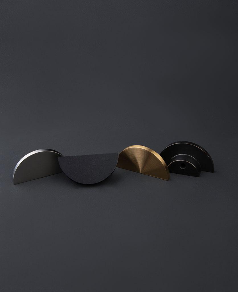 metal semi circle drawer knob