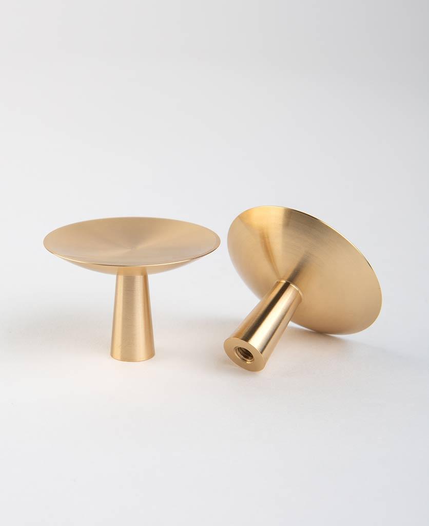 rococo raw brass knob