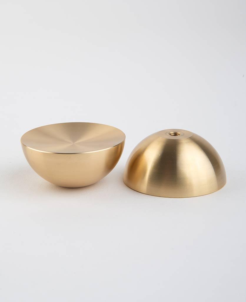 raw brass surrealist concave bowl knob