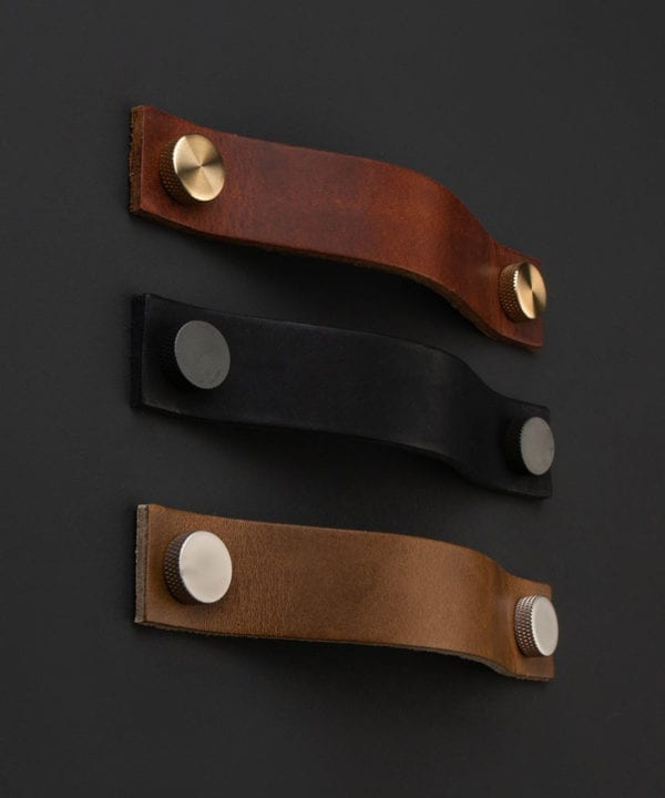 leather kitchen drawer handle