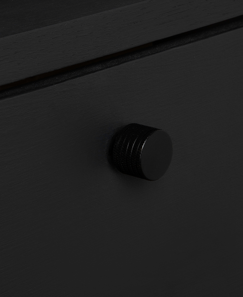 avant garde large knob black on black drawer