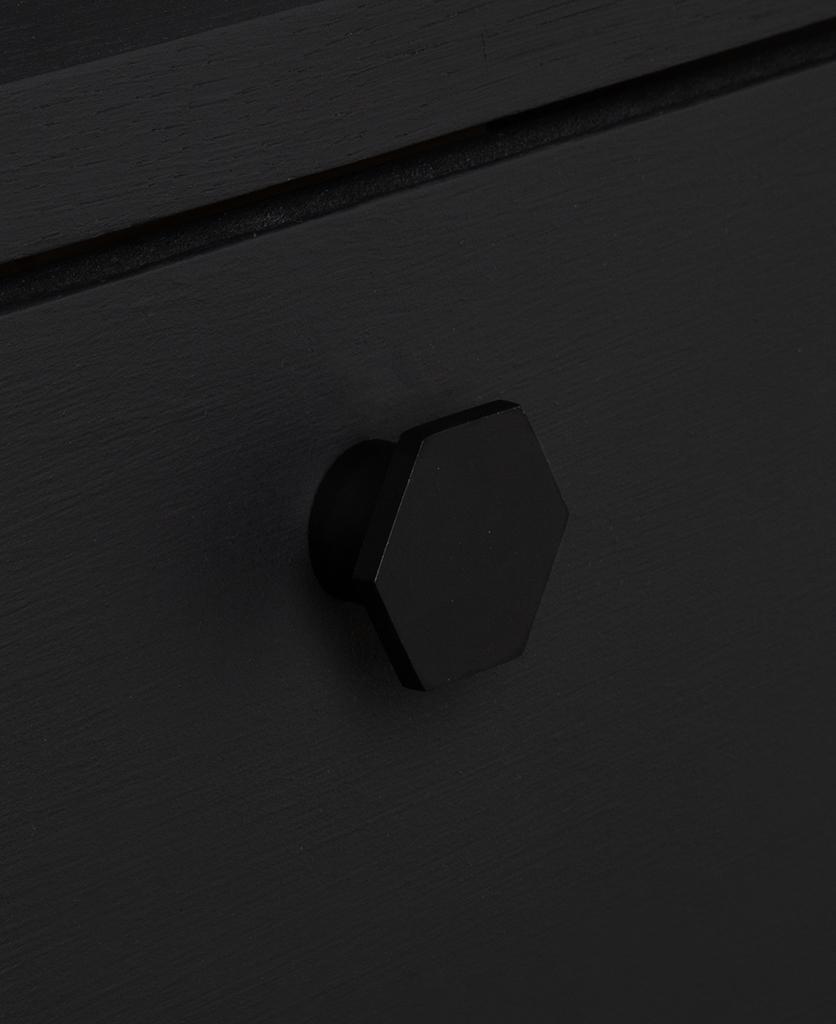 bauhaus black knob on black drawer