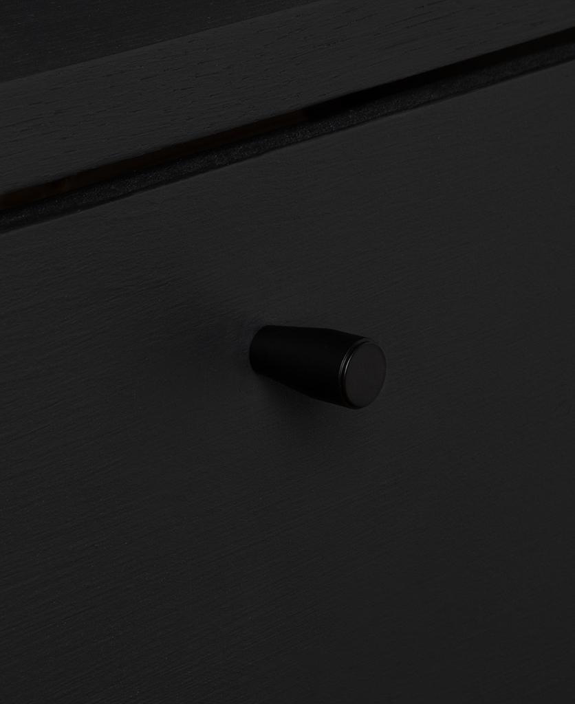 minimalist black knob