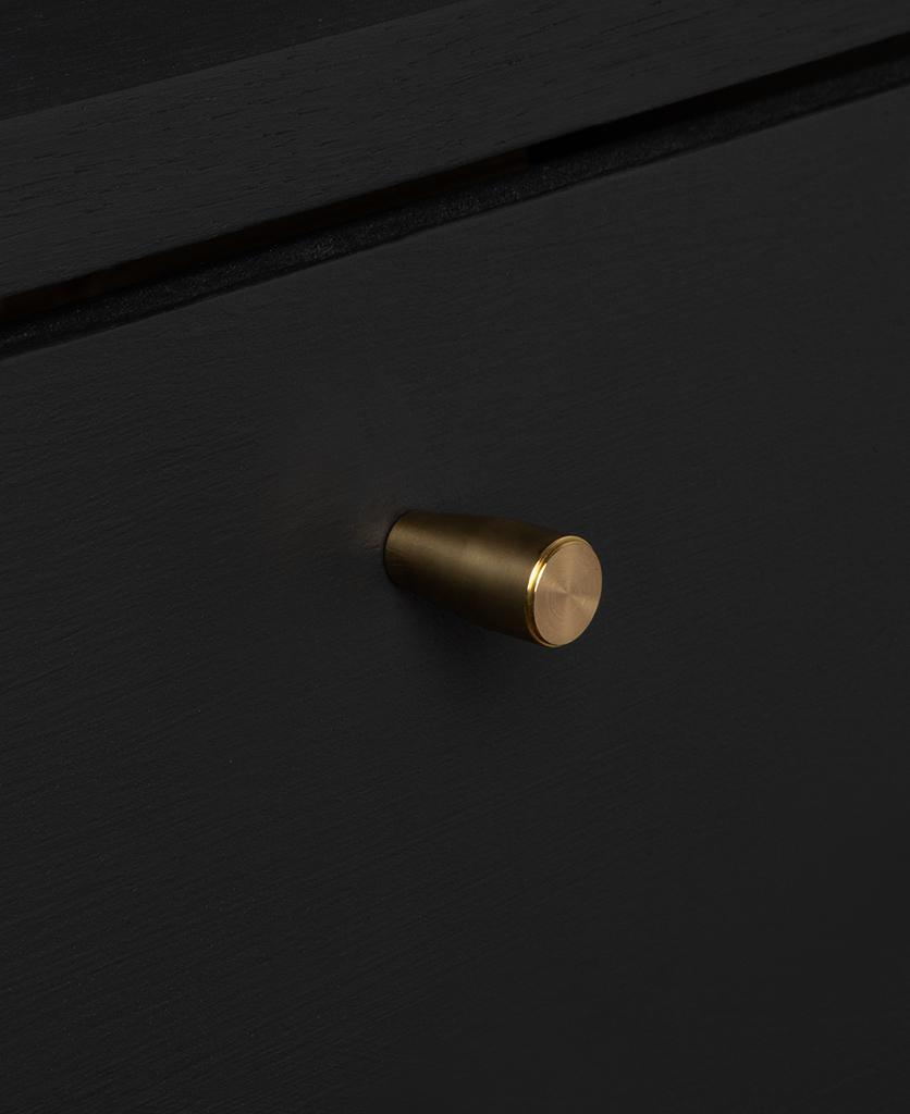 minimalist gold knob