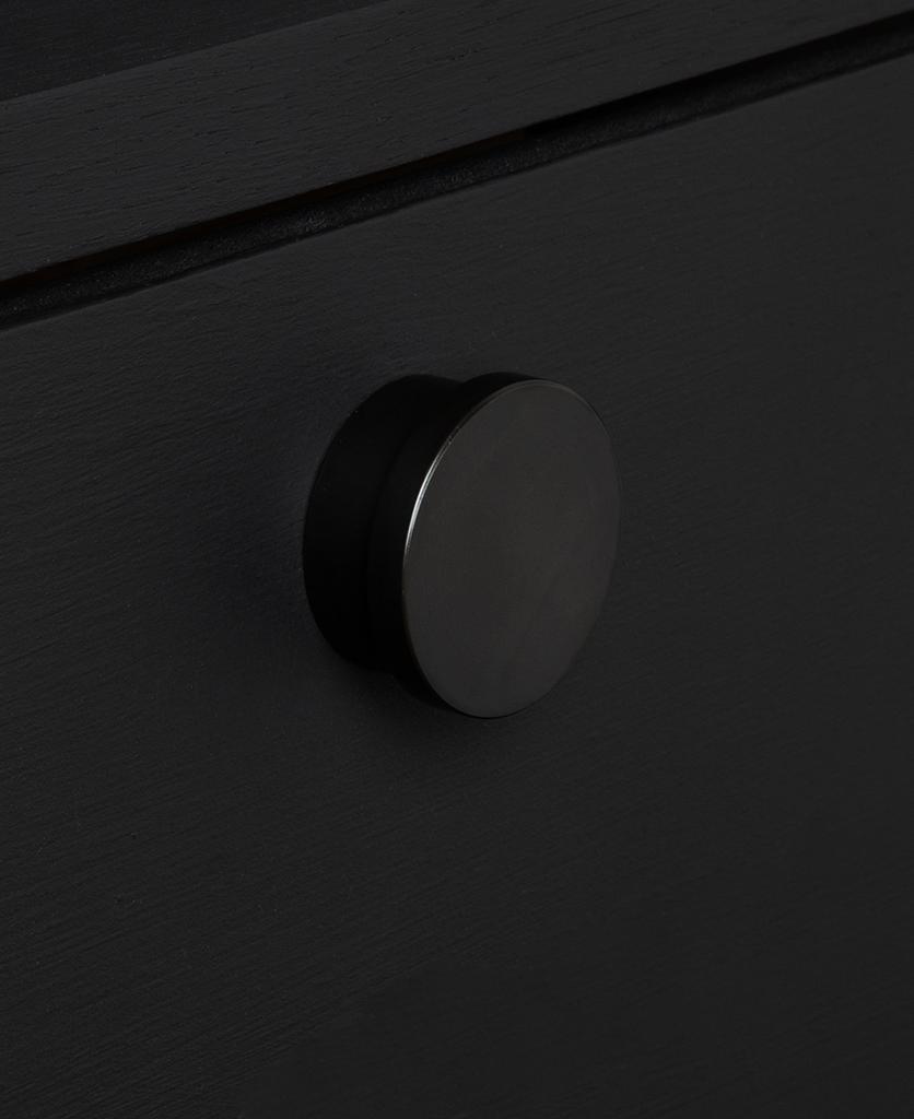 baroque knob black on black drawer