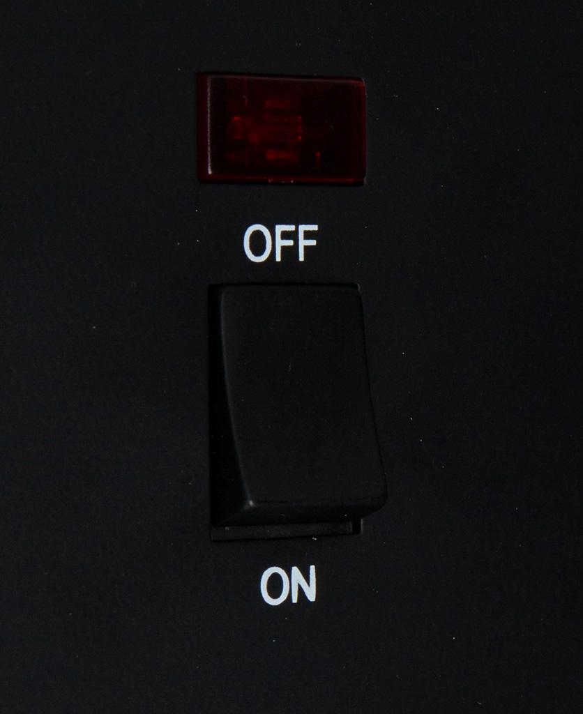 black 20A DP switch close up