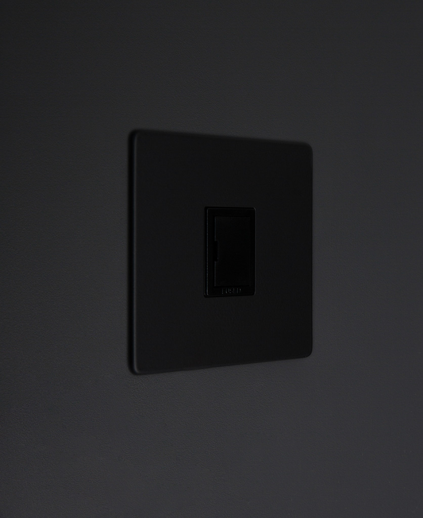 black unswitched fuse spur switch