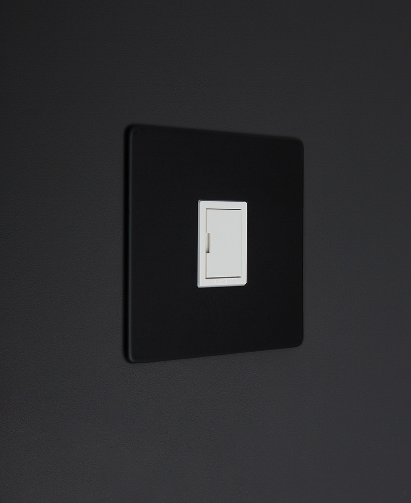 black and white unswitched fuse spur switch